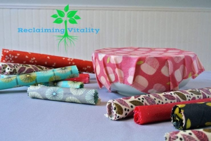 DIY Reusable Food Wrap #non-toxicliving #diy #reusablefoodwrap #reclaimingvitality