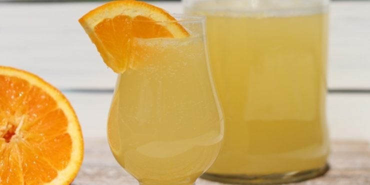 Orangeade: Natural Water Kefir Soda