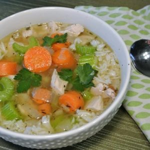 Chicken and RIce Soup #easymeals #nourishingsoups #quickmeals #reclaimingvitality