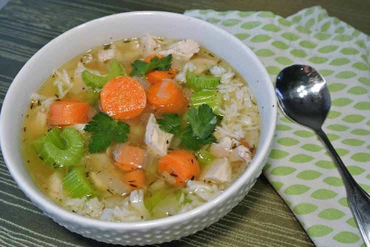Quick, Easy, and Nourishing Chicken and Rice Soup