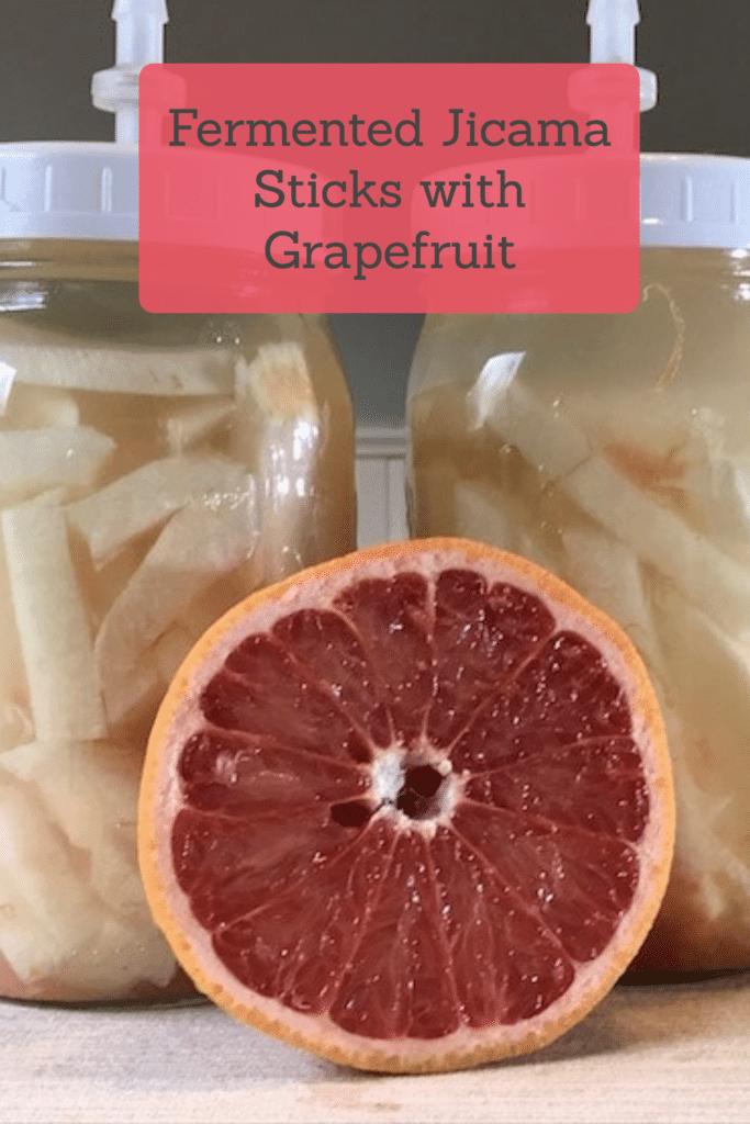 Fermented Jicama Sticks with Grapefruit