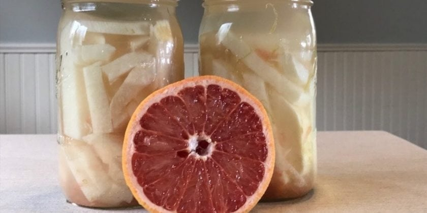 Fermented Jicama sticks with Grapefruit: Feed your Microbiome with Deliciousness