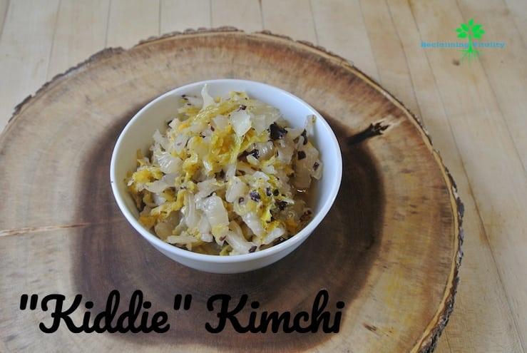 """""""Kiddie"""" Kimchi"""