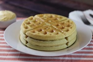 Buckwheat Sourdough Waffles (Gluten-free, Additive-free)