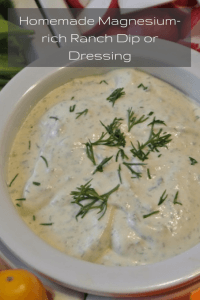 Homemade Magnesium-rich Ranch Dip or Dressing