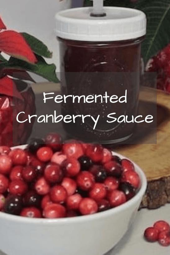 Fermented Cranberry Sauce