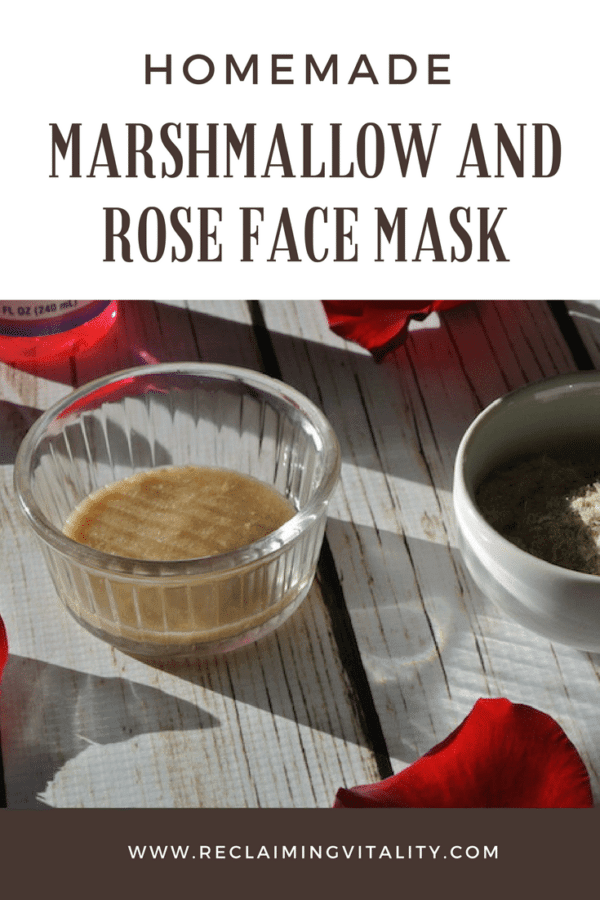 Homemade Hydrating Marshmallow Root and Rosewater Face Mask