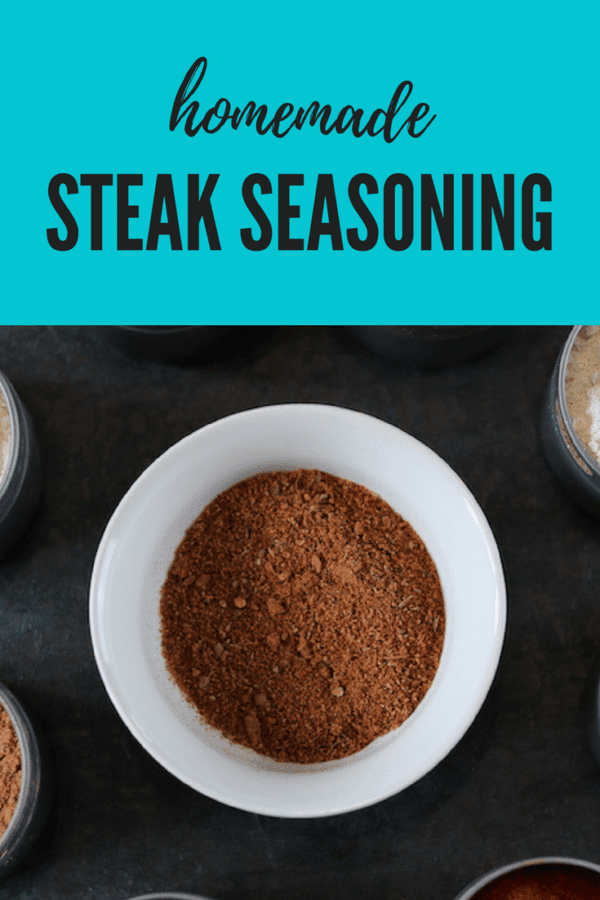 Homemade Steak Seasoning gluten-free, additive-free, preservative-free, chemical-free