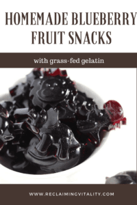 Homemade Blueberry Fruit Snacks with grass-fed gelatin