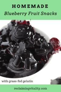 Homemade Blueberry Fruit Snacks with grass-fed gelatin