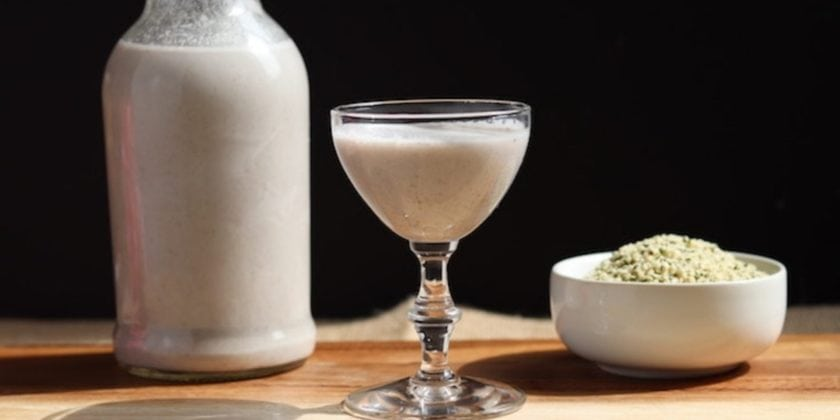 Homemade Hemp Milk (with flavor variations)