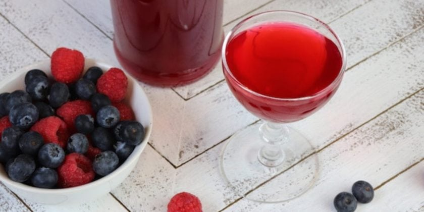 Blueberry Raspberry Shrub