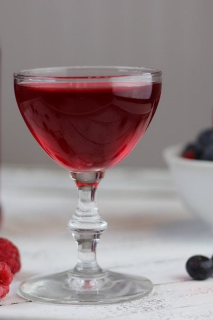 Blueberry-Raspberry Shrub (aka drinking vinegar)