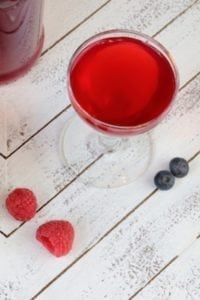 Blueberry-Raspberry Shrub (aka) Drinking Vinegar