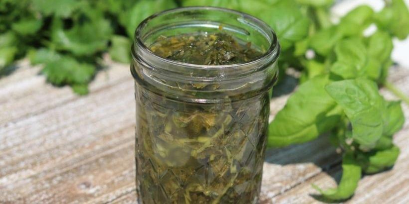 Fermented Herbs: Preserve summer!