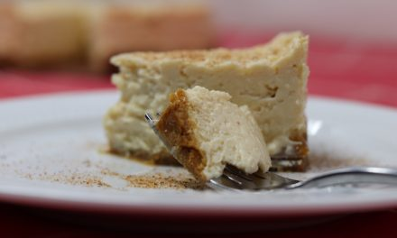 Instant Pot Egg Nog Cheesecake (Gluten-free)